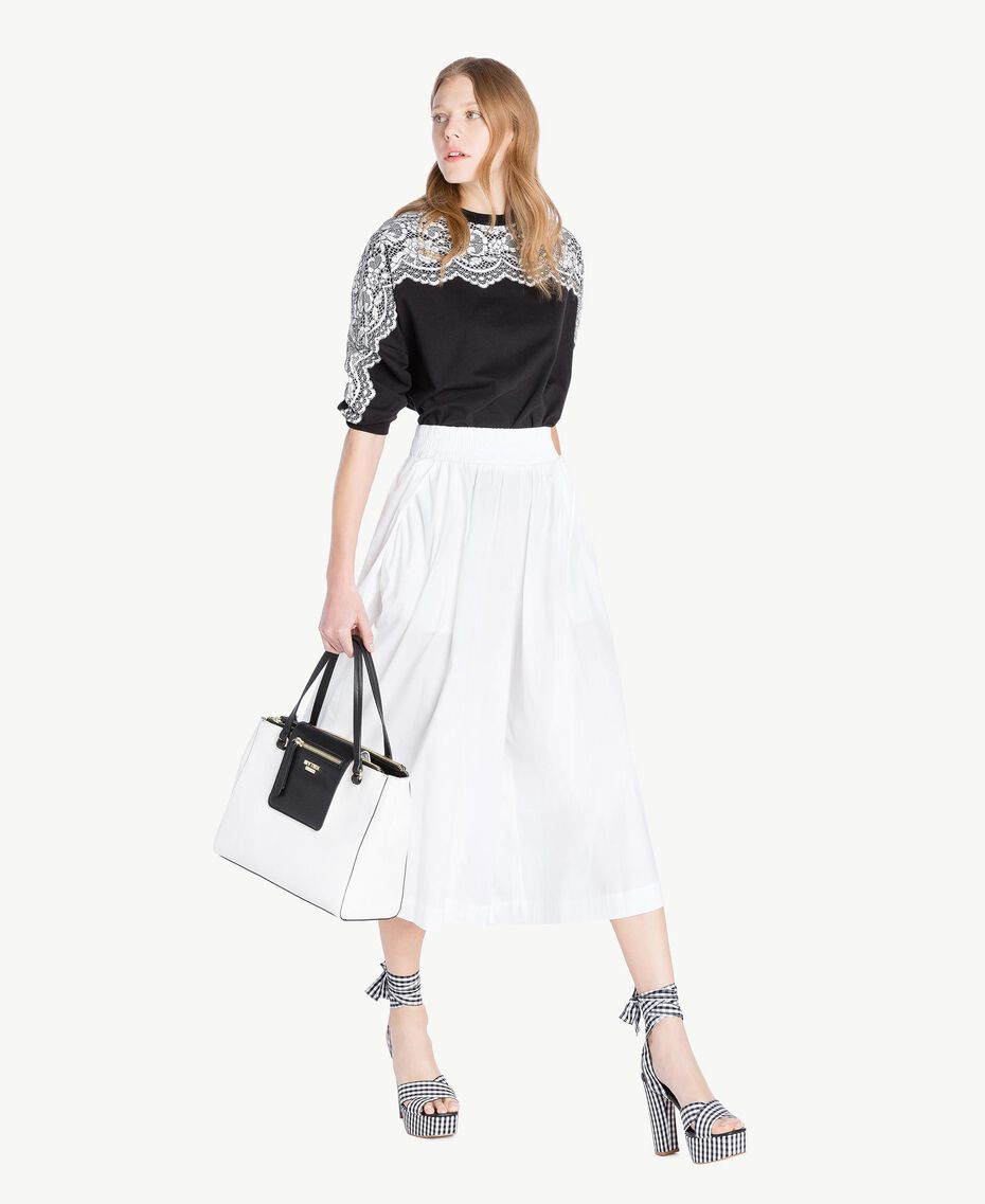 Poplin skirt White Woman JS82DM-05