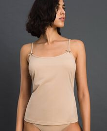 top with shoulder straps Pink Skin Woman LCNNBB-01