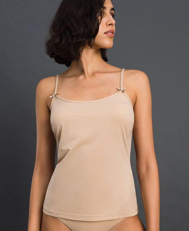 top à bretelles fines Rose Skin Femme LCNNBB-01