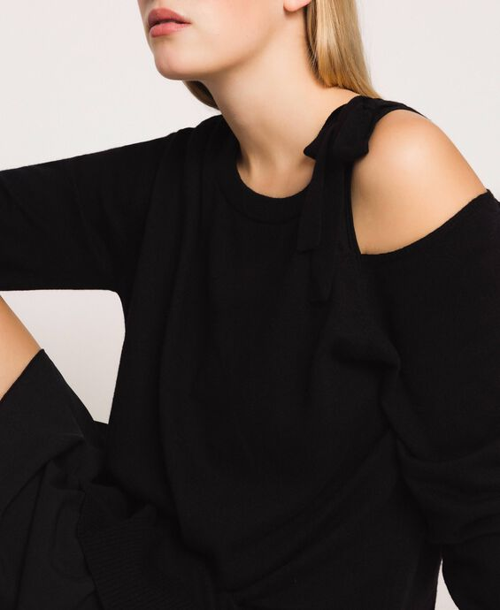 Cashmere blend dress with bow
