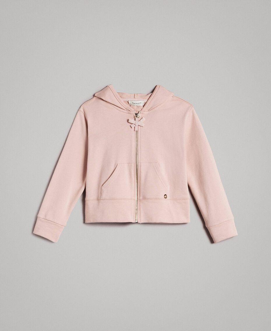 Sweat shirt en coton avec nœuds Rose En fleur Enfant 191GJ2031-01