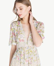 Kleid mit Print Frühlingsprint Frau PS82PB-04