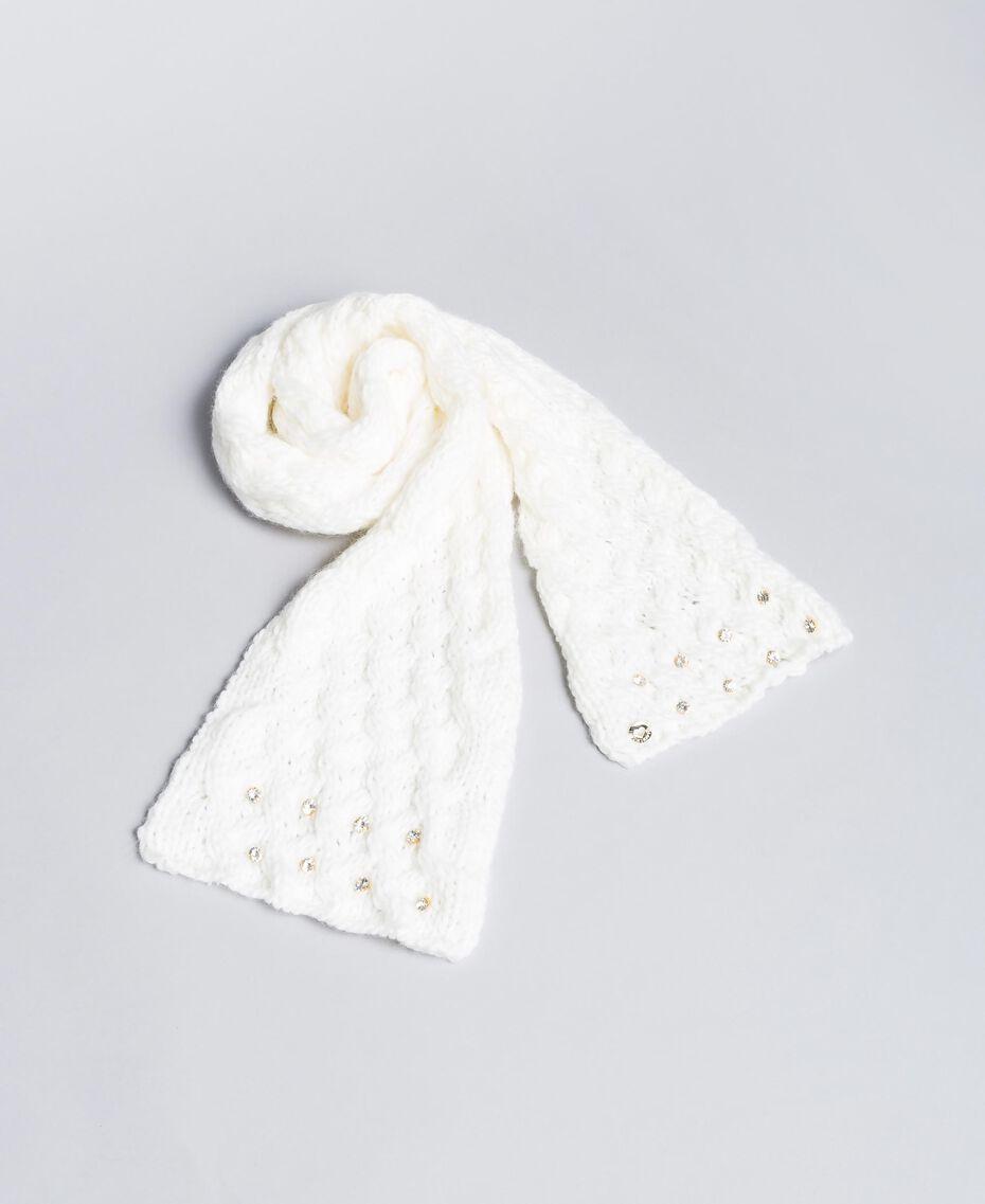 Écharpe avec strass Off White Enfant FA8FCS-02