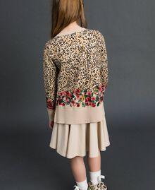 Floral and animal print jumper Leopard Print / Floral Child 192GJ3181-03