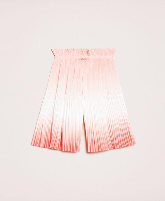 Pantalon en satin plissé dégradé