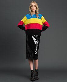 Color-Block-Pullover aus Wolle-Lurex-Mischung Lurex-Tweed Frau 192MT3170-0T