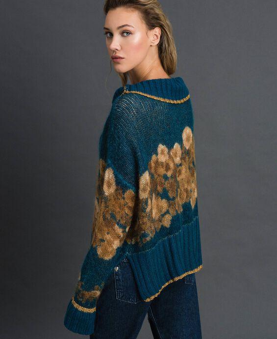 Printed mohair jumper