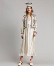 """Veste en lin ornée de perles et de sequins Beige """"Sable"""" Femme 191TT2060-0T"""