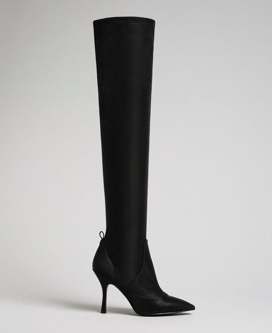 Сапоги-ботфорты на шпильке Черный женщина 192MCP036-02
