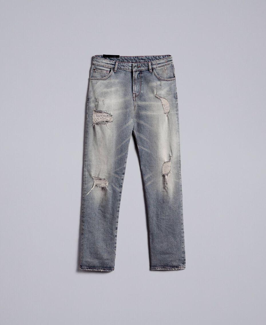 Jeans in Vintageoptik Denim-Grau Frau JA82YB-0S