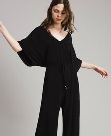 Combinaison avec pantalon palazzo Noir Femme 191LB22DD-05