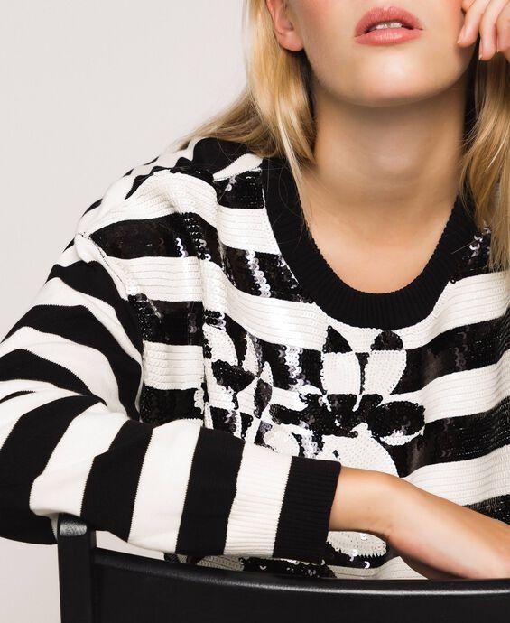 Full sequin striped jumper