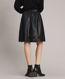 Faux leather skirt Black Woman 191MP2054-03