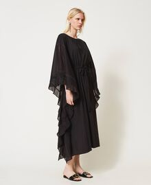 Marrakech muslin long dress with embroidery Black Woman 211TT2704-03