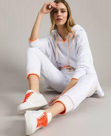 Baskets en tissu effet filet Blanc Femme 191LL49EE-0S
