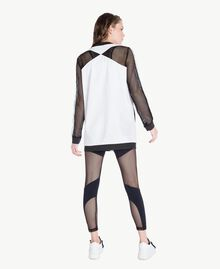 Mesh bomber Optical White / Black Woman LS87DD-04