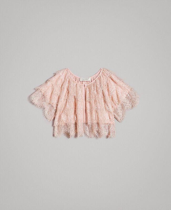 Shrug mit Spitze Blütenrosa Kind 191GJ2Q92-01