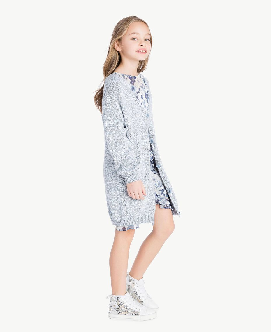 Cardigan long Bleu Infini Enfant GS83CB-03