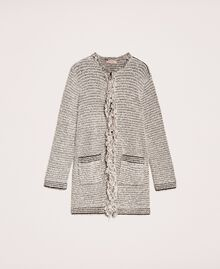 Twisted yarn jacket with lurex Multicolour Ivory / Black Woman 201TP3160-0S