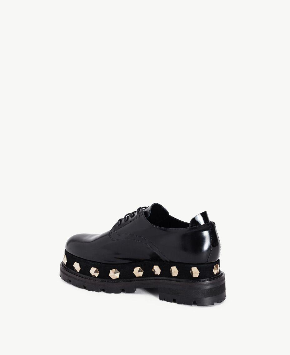 TWINSET Chaussures à lacet clous Noir Femelle CA7TGJ-03