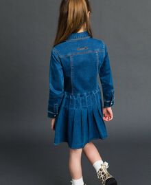 Denim effect shirt dress Mid Denim Child 192GJ2510-03
