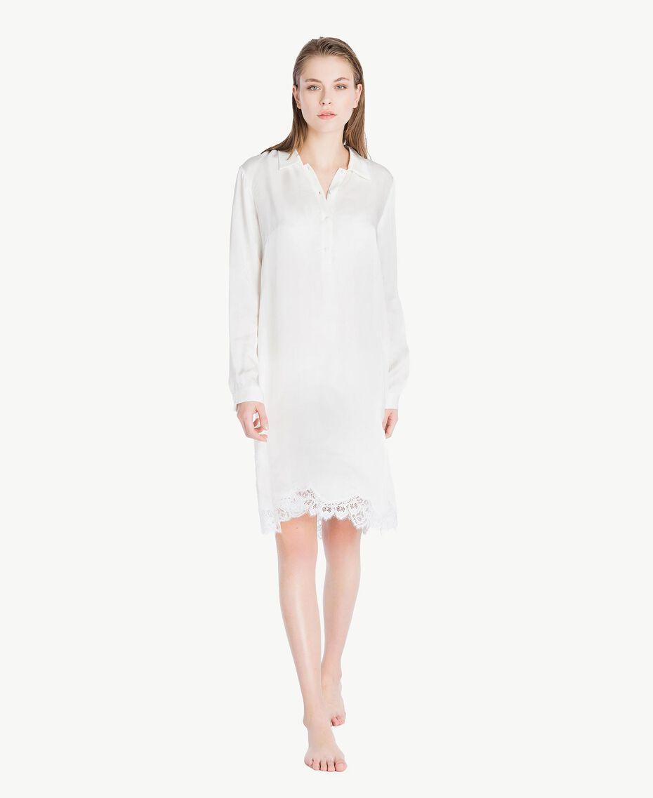 Satin nightdress Ivory Woman LS8CLL-02