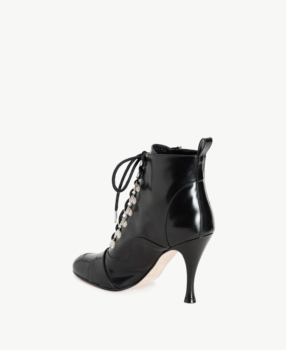 TWINSET Patent leather ankle boots Black Woman CS8PMN-03