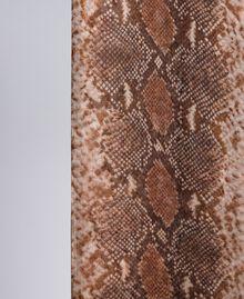 "Foulard aus Seide mit Animalierprint Print ""Snake"" Schokoladenbraun Frau AA8P15-02"