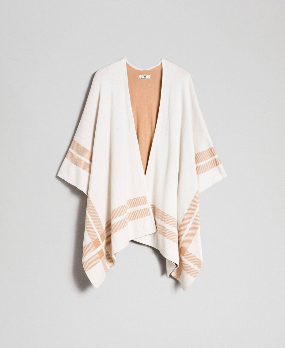 Reversible knit cape Cream / Nude Beige Woman 192LI3ZBB-0S