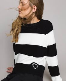Striped top with heart detail Multicolour Pastel Colour Woman 191MP3011-04