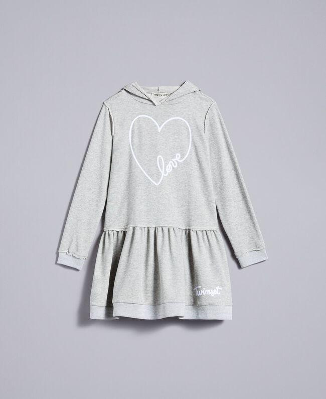 Robe en molleton avec imprimé Gris clair chiné Enfant GA8261-01