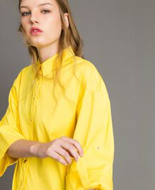"Poplin boxy shirt ""Freesia"" Yellow Woman 191MP2211-02"