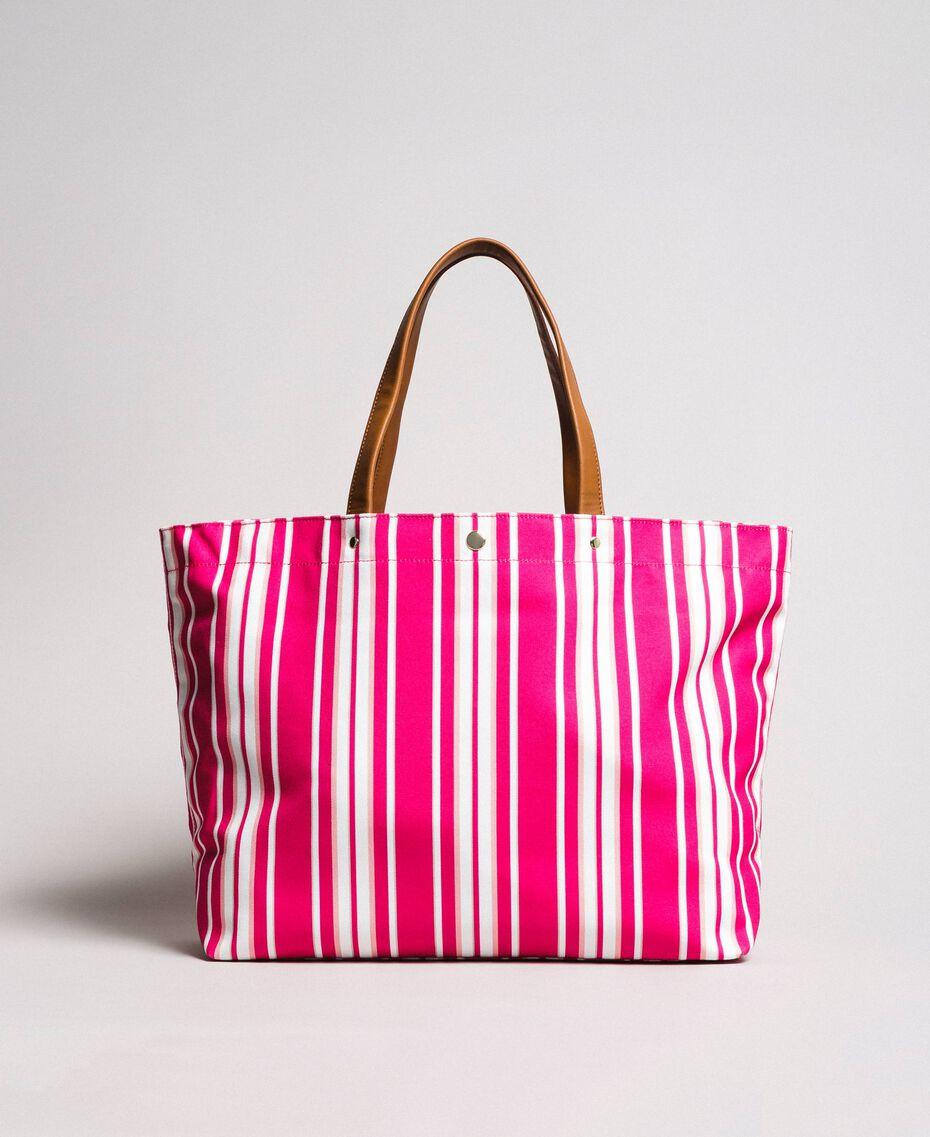 """Strandtasche mit Canvasstreifen Streifen Multicolour Pink / """"Tangerine Cream"""" Pink Frau 191LB4ALL-03"""