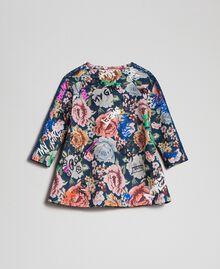 Robe en scuba avec imprimé floral et graffiti Imprimé Graffiti Enfant 192GB2491-0S
