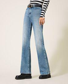 "Wide leg jeans ""Mid Denim"" Blue Woman 202MP2500-02"