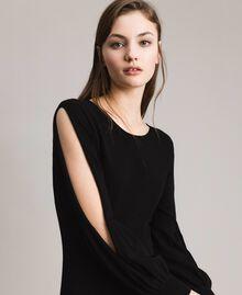 Robe fourreau avec fentes Noir Femme 191TP3291-05
