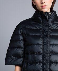 Doudoune courte en nylon brillant Noir Femme TA82C2-05