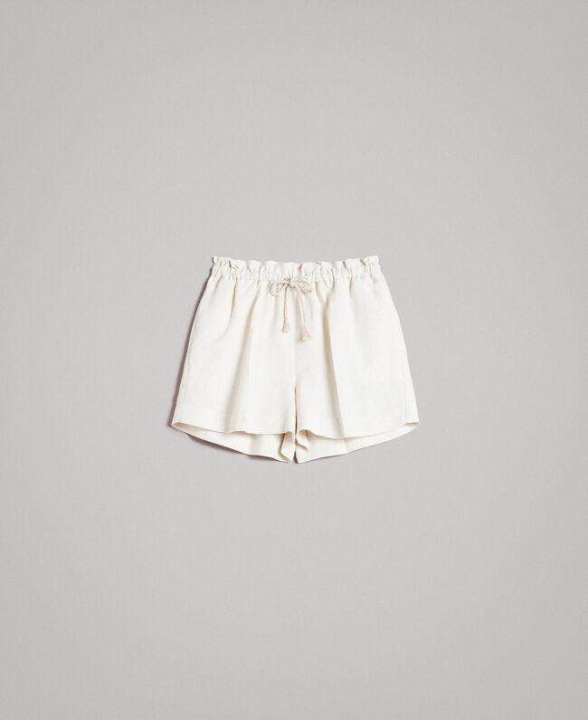 De Pantalones Lino Milano Cortos Mezcla MujerBlancoTwinset Ow0Pkn