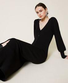 Robe «Garnet» avec manches ballon Noir Femme 212AP3032-03