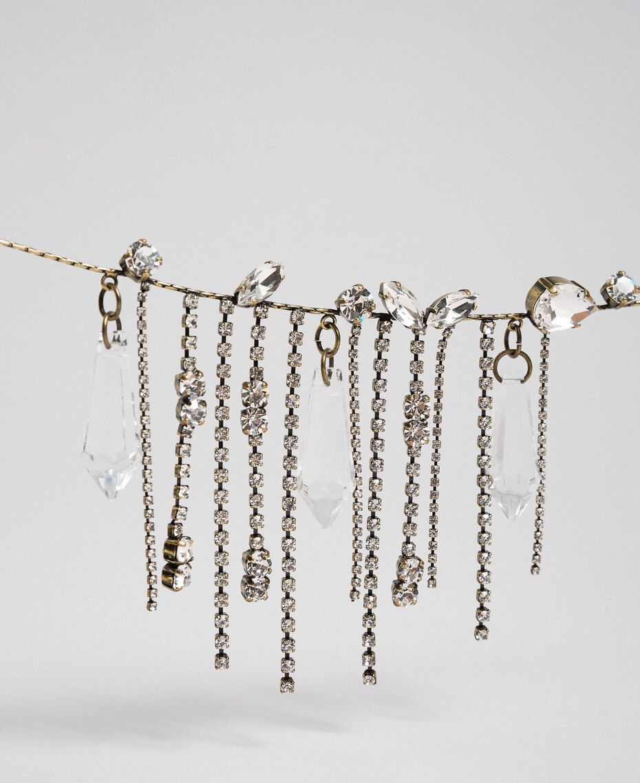 Halskette mit Steinchen und Strass Kristall Frau 192TA4365-02