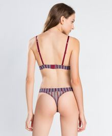 "Printed tulle and lace thong ""Red Theatre"" Red Woman IA8D88-03"