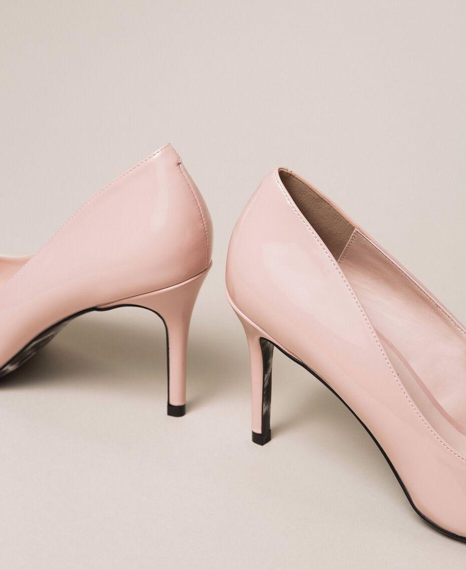Patent leather court shoes Quartz Pink Woman 201MCP01L-02
