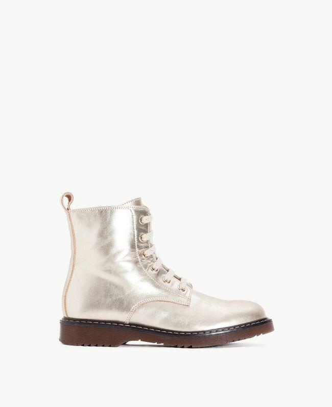 Boots lamé Or Jaune HA78AG-01