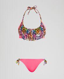 Купальник-бикини от Элеттры для Twinset Флуоресцентный розовый / Крапчатый принт женщина 191TQM021-01