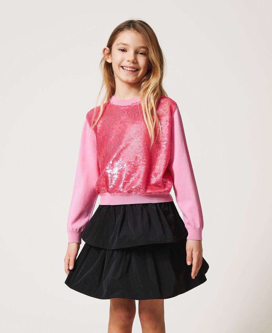 """Full sequin jumper """"Rose Bloom"""" Pink Child 211GJ3530-01"""
