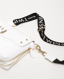 Medium Rebel bag with logo shoulder strap White Snow Woman 201TO823X-04