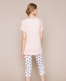 Floral print pyjamas Black Print Woman 201LL24CC-03