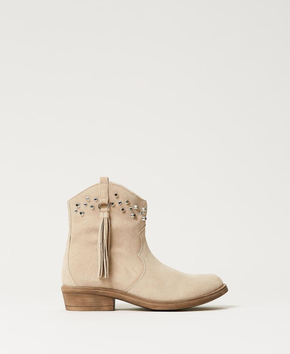 Leather Texas boots Incense Beige Child 211GCJ152-03