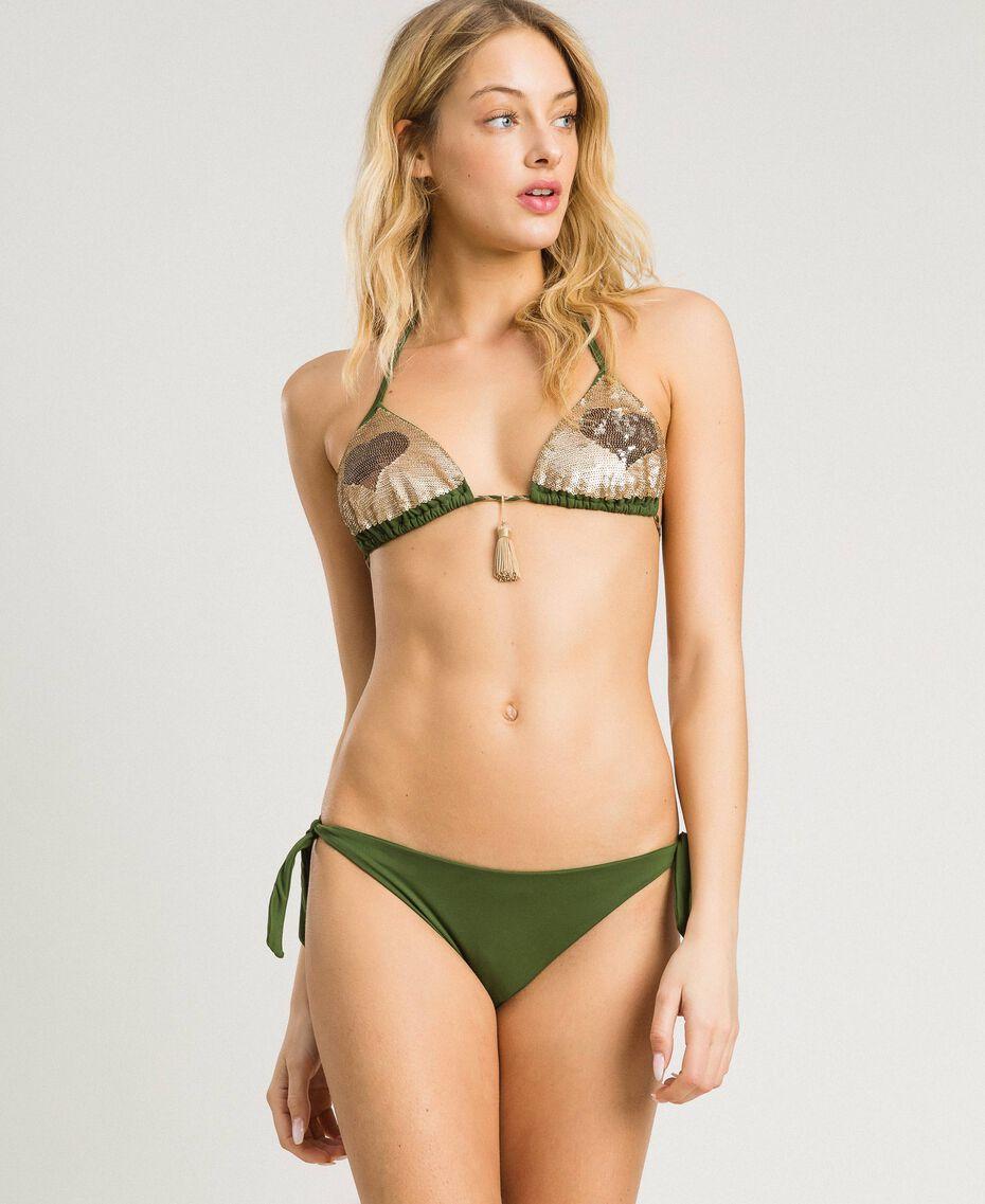 Bikinitanga mit Schleifchen Amazonas Grün Frau 191LMMR77-0S