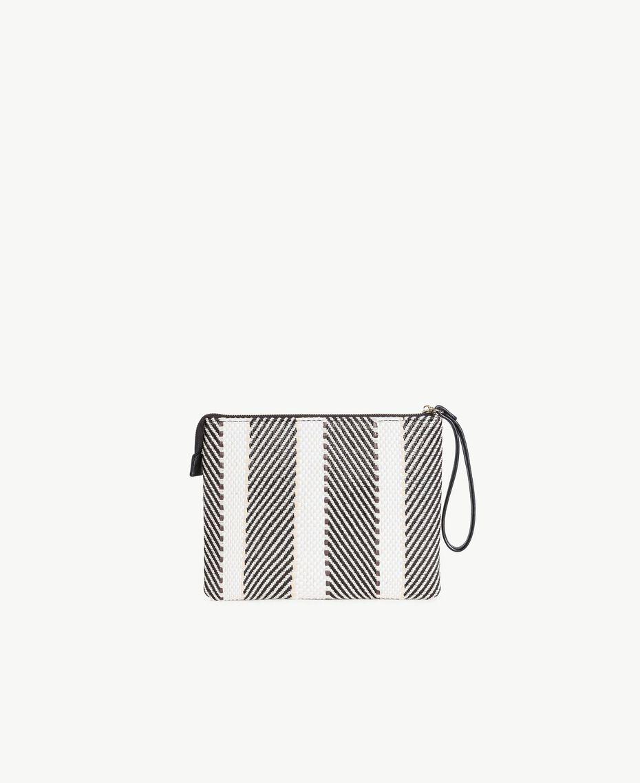 TWINSET Multicolour clutch bag Multicolour Black / Cream / Coffee Woman RS8TFE-03